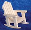 Dollhouse Miniature Adirondack Rocker, Pine