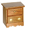 Dollhouse Miniature Nightstand, Dark Oak