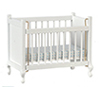 Dollhouse Miniature Crib, White