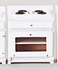 Dollhouse Miniature Kitchen Stove, White