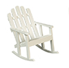 Dollhouse Miniature Adirondack Chair, White