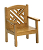 Dollhouse Miniature Garden Chair, Maple