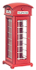 Dollhouse Miniature Phone Booth, Red
