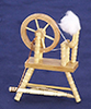 Dollhouse Miniature Spinning Wheel, Oak