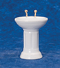 Dollhouse Miniature Bathroom Sink, White