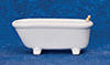 Dollhouse Miniature Bathroom Bathtub, White