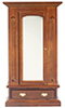 Dollhouse Miniature Mirrored Armoire/Walnut