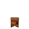 Dollhouse Miniature Nightstand Walnut