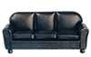 Dollhouse Miniature Leather Sofa, Black