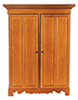 Dollhouse Miniature Lincoln Wardrobe, Walnut
