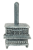 Dollhouse Miniature Lincoln Wood Stove, Gray