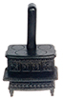 Dollhouse Miniature Lincoln Wood Stove, Black