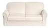 Dollhouse Miniature Sofa, White