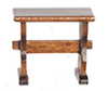 Dollhouse Miniature Nook Trestle Bench, Short