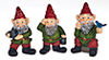 Dollhouse Miniature1-1/2 In Gnomes, Set, 3Pc
