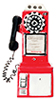 Dollhouse Miniature1950'S Pay Phone, Red