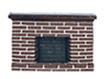 Dollhouse Miniature1/2In Red Brick Fireplace