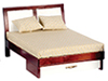 Dollhouse Miniature Modern Bed, Mahogany