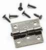 Dollhouse Miniature Butt Hinges with Nails, Black, 4 Pk