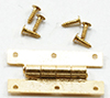 Dollhouse Miniature H Hinges with Nails, 4 Pk