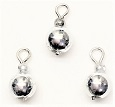 Shiny Silver Ornaments, Pkg. 3