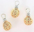 Gold Filigree Ornaments, Pkg. 3