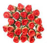 Dollhouse Miniature Rose, 2 Dozen, Half Bloom, Yellow - Red