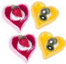 Dollhouse Miniature Heart Tart (L), 4 Assorted