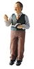 Dollhouse Miniature Richard Resin Doll