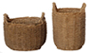 Dollhouse Miniature Resin Round Baskets, 2Pcs