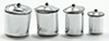 Dollhouse Miniature Canister Set, Stainless Steel, 3Pc