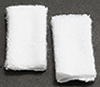 Dollhouse Miniature White Towel Set, 2pc