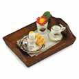 Dollhouse Miniature Morning Breakfast Tray