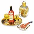 Dollhouse Miniature Evening Cognac Set