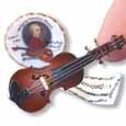 Dollhouse Miniature Reutter's Porcelain Fine Dollhouse Miniature Mozart Violin Set