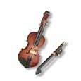 Dollhouse Miniature Reutter's Porcelain Fine Dollhouse Miniature Violin W/Bow
