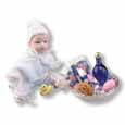 Dollhouse Miniature Reutter's Porcelain Fine Dollhouse Miniature Baby Changing Set
