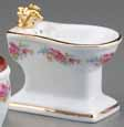 Dollhouse Miniature Reutter's Porcelain Fine Dollhouse Miniature Dresden Rose Bidet