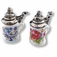 Dollhouse Miniature Reutter's Porcelain Fine Dollhouse Miniature Assorted Beer Stein Set