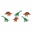 Dollhouse Miniature Micro-Mini Dinosaur 12Pc