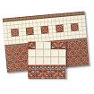 Dollhouse Miniature Victorian Tiles, 4pc