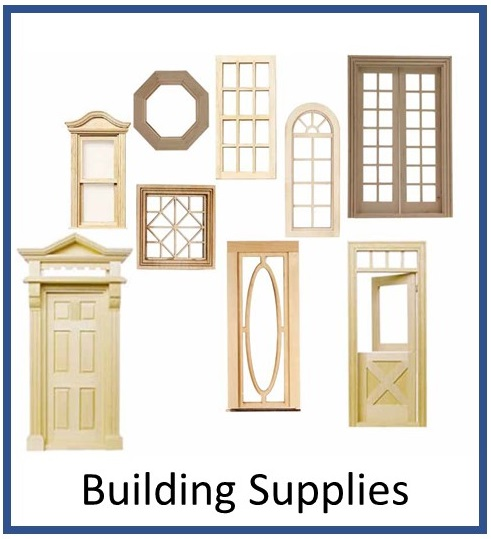 Dollhouse Miniature Building Supplies Doors Windows trims