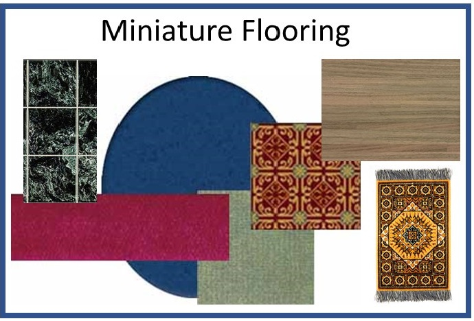 Dollhouse Miniature Flooring Hardwood Tile Carpet Rugs