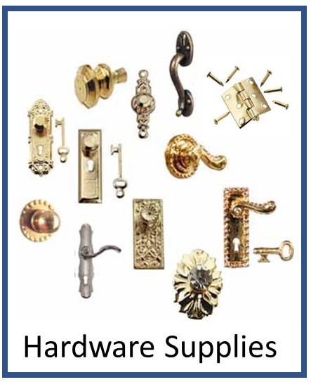 Dollhouse Miniature Hardware Knobs Hinges Handles