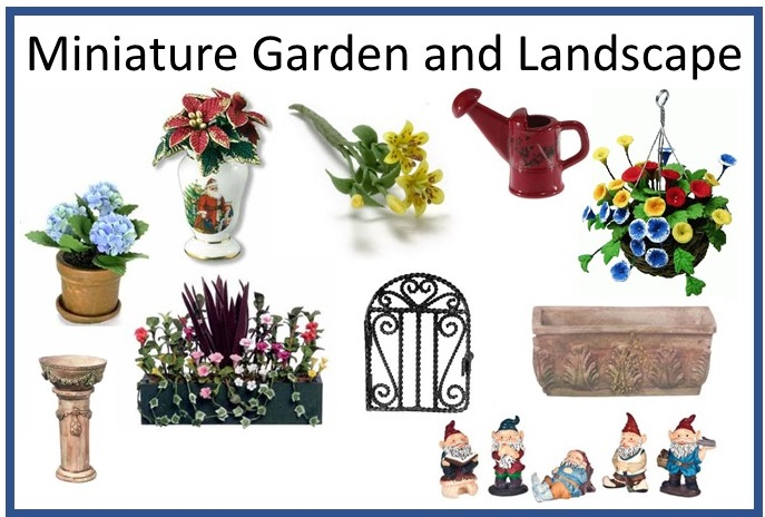 Dollhouse Miniature Flowers Plants Landscape Garden Fairy Garden