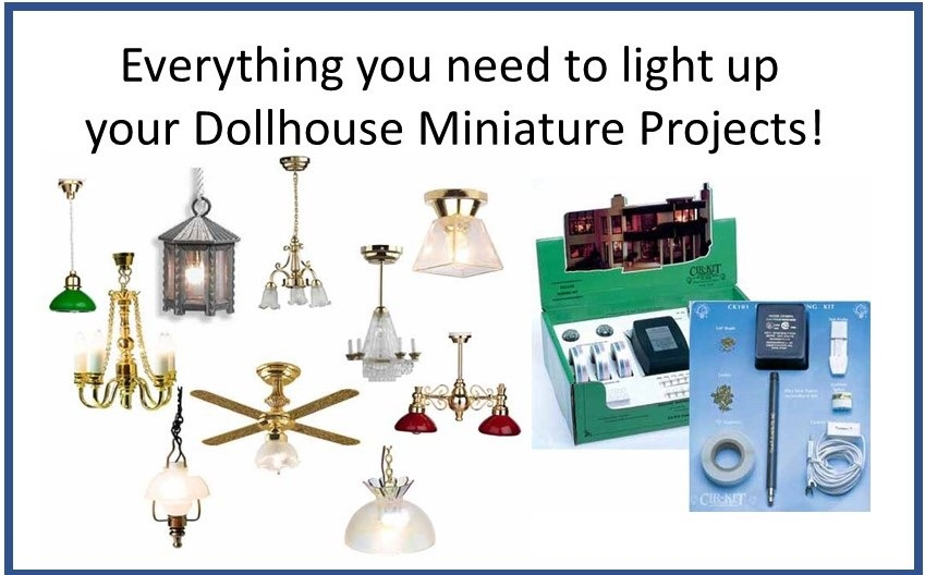 Dollhouse Miniature Electric Wiring Lighting