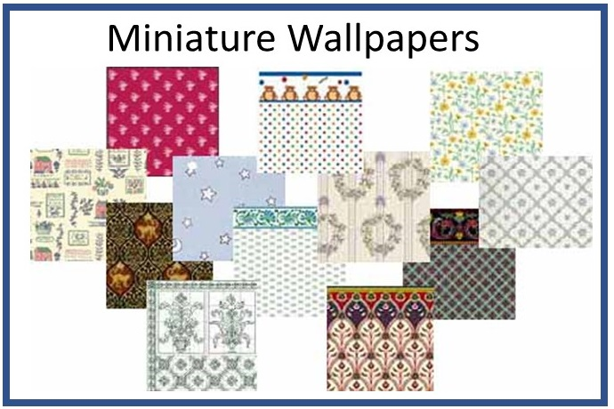 Dollhouse Miniature Wallpaper