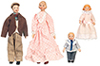 Dollhouse Miniature Porcelain Doll Family/4