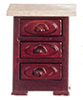 Dollhouse Miniature Night Table, Mahogany