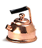 Dollhouse Miniature Copper Tea Kettle